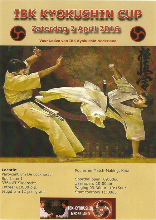 IBK Kyokushin CUP zaterdag 2 april 2016