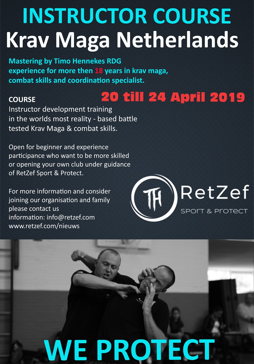 Reminder Instructor course Krav Maga 3 more places free